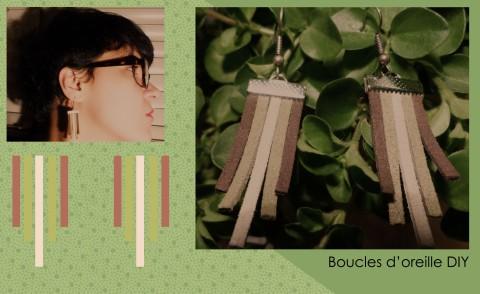 Boucles d'oreille Suédine DIY