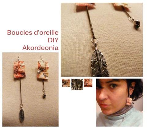 Boucles d'oreille DIY - Akordeonia