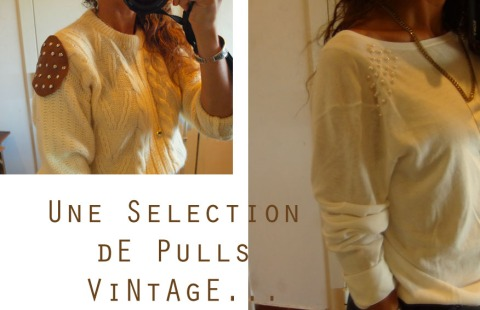 pulls vintage customisés
