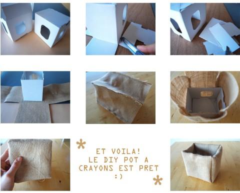 DIY Boite crayon TOILE DE JUTE VF1