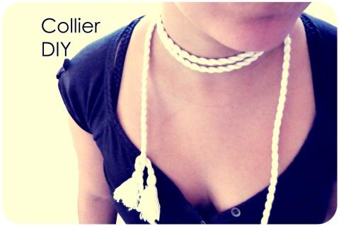 Collier ceinture coton