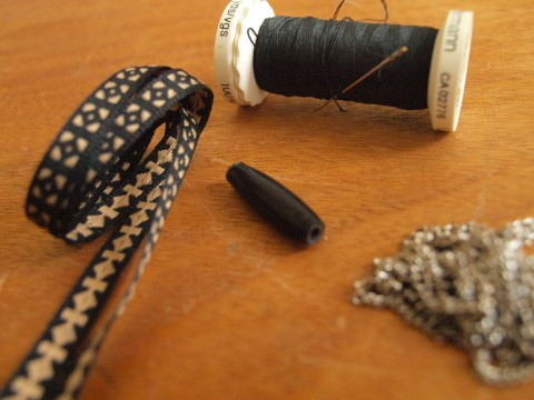 Matériel DIY bracelet ethnique et chaîne argent