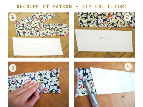 DIY COL FLEURI FINAL DECOUPE ET PATRON