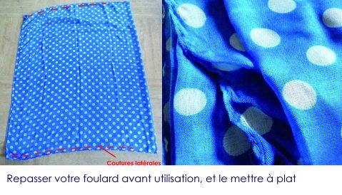Robe foulard 2013 mise à plat