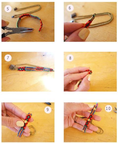 ETAPE 2 - DIY BRACELET BRéSILIEN et chaines