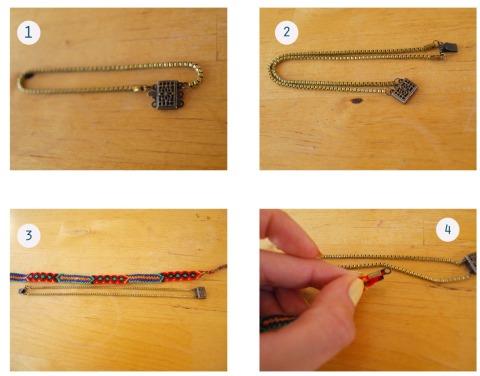 ETAPE DIY BRACELET brésilien et chaines