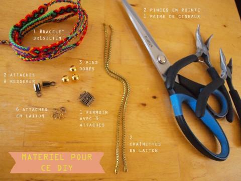 materiel DIY bracelet brésilien et chaines