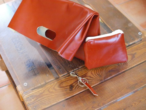 DIY leather lunch bag & accessoiries