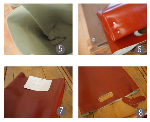 TUTO DIY LEATHER LUNCH BAG