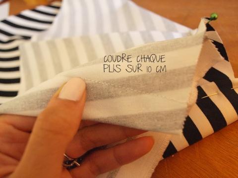 10 CM DE COUTURE pour les plis - DIY ROBE A VOLANTS