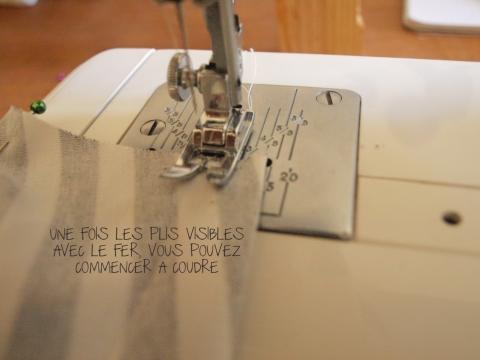 coudre les plis - DIY ROBE A VOLANTS