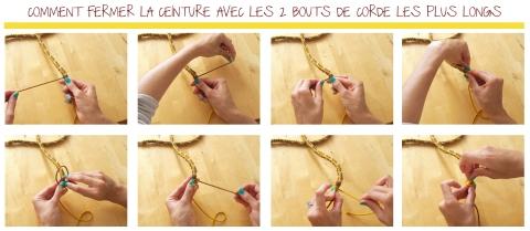 DIY ceinture tresser etapes fermer