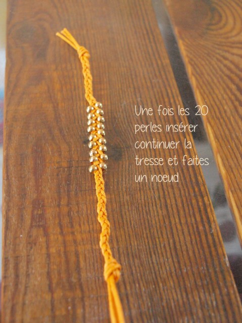 DIY bracelet orange HIPANEMA