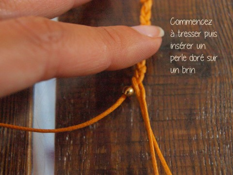 DIY HIPANEMA BRACELET ORANGE
