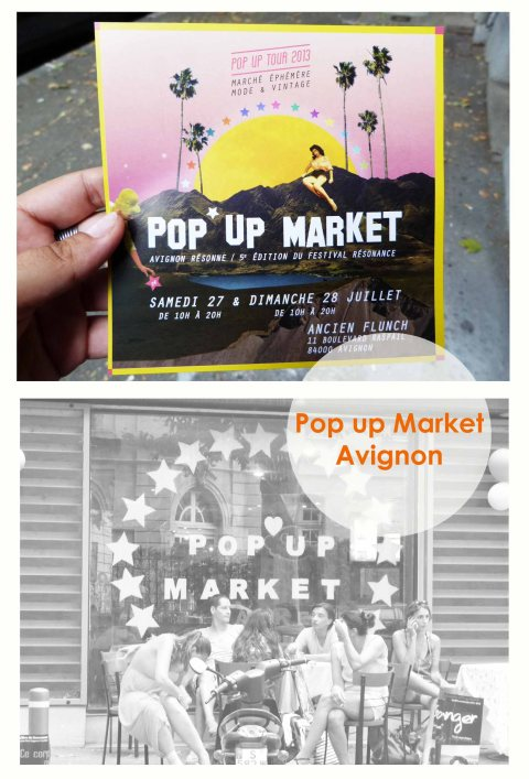 Pop up market Avignon