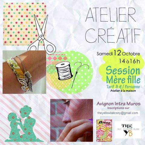 Atelier créatif Samedi 12 octobre Avignon