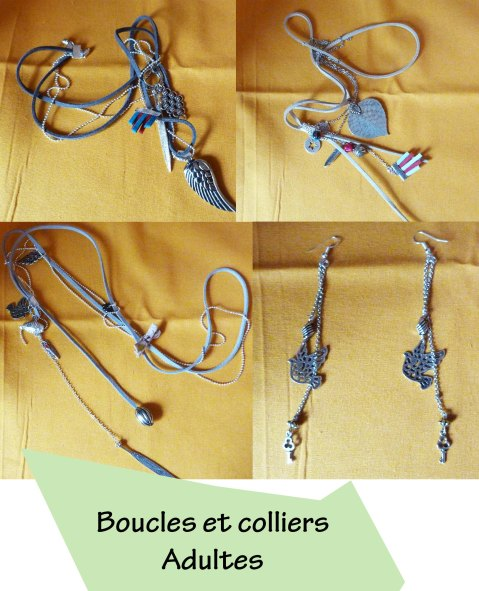 Colliers et boucles adultes