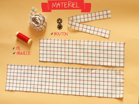 MATERIEL DIY NOEUD PAPILLON