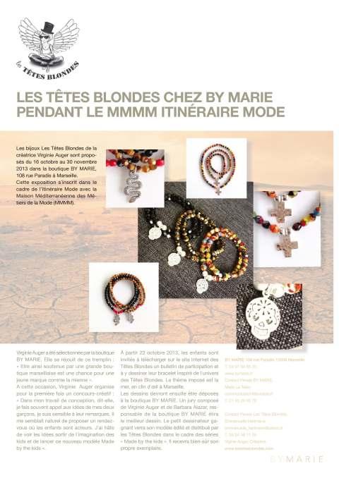 Concours créatif Les tetes blondes x by marie