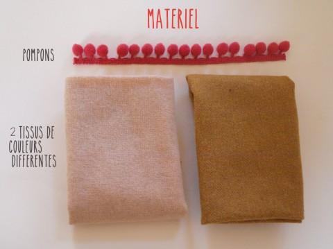 MATERIEL DIY FOULARD BICOLORE