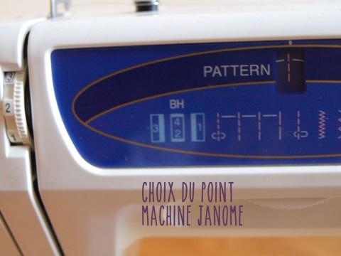 parametre machine patron DIY POCHETTE CUIR