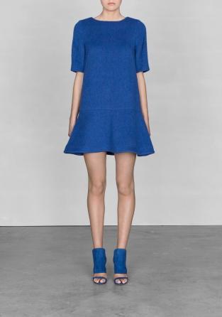 robe laine bleu