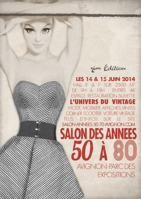 Affiche salon années 50 à 80